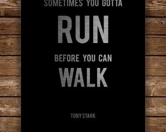 Digital Poster Print Tony Stark's quotes, INSTANT DOWNLOAD, Iron Man, Superhero, man cave, boy's room & teen room decor.
