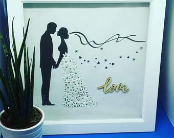 Wedding art, mr and mrs, personalised art, wedding present, proposal gift, bride and groom, bride to be, wedding day gift, couples gift