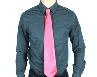 VTG Red Satin Necktie