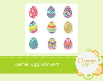 Easter Egg Stickers, Easter Planner Stickers, Easter Eggs