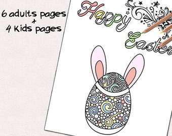 Easter eggs coloring pages, easter egg svg, easter egg hunt, kids coloring pages, adult coloring pages, printable easter eggs coloring pages