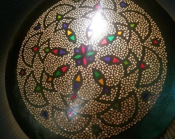 Lamp wall Handcrafted From Copper With Beautiful Moroccan Design 31,4 inches