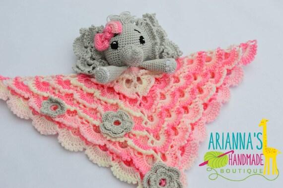 Elephant lovey / Crochet Elephant lovey blanket / Baby shower