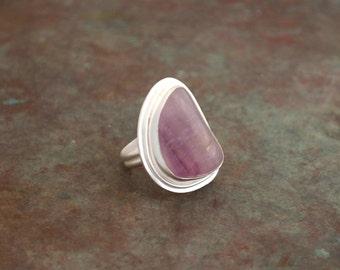 Sterling silver amethyst ring - handmade