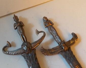Eqyptian themed cutlass swords