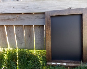 Small Chalkboard - Kitchen Chalkboard - Wood Framed Chalkboard - Small Chalkboard - Rustic Chalkboard - Chalkboard With Ledge 16x12