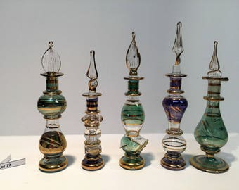 5 Egyptian Perfume Bottles