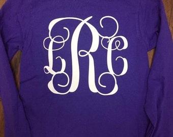 Long Sleeve Large Monogram Tshirt