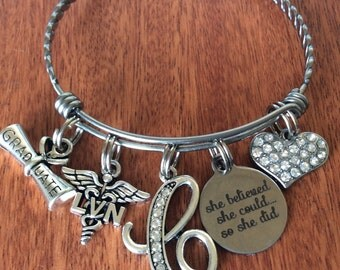 LVN Gifts, Lvn Graduate Gifts, Lvn Graduation Gifts, Nurse Gifts, Personalized LVN Gifts, She Believed She Could So She Did Gift, Lvn RN Lpn