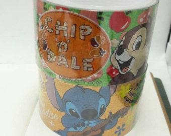 Last Batch Sale : 48mm Large Disney Stitch/ Chip n Dale Deco Tape  -1pc