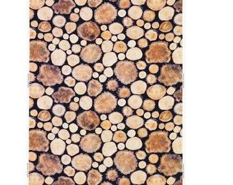 IKEA MARGARETA Wood log/white/brown Fabric Material  / 802.408.07/Width 150 cm