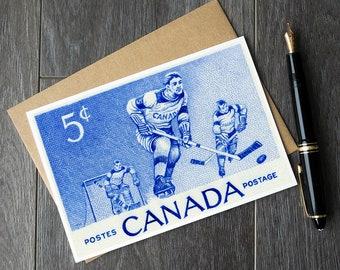 canadian hockey card, hockey player gift ideas, hockey mom thank you card, hockey coach gift cards, hockey dad card, hockey birthday card