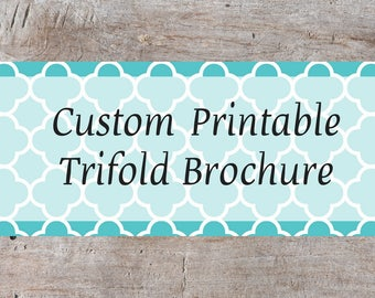 Custom Brochure, Business Brochure Design, Business Brochure, Wedding Brochure, Event Brochure, Tri Fold Brochure, Custom Tri Fold Brochure