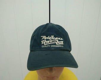 Rare Vintage POLO JEANS Ralph Lauren Cap Hat Free size fit all