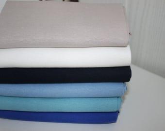 Ribbing uni 6 colours 50 cm tubular fabric