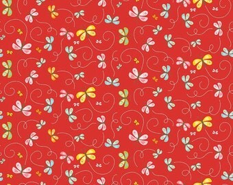 Riley Blake - Happy Butterflies- Red- C5914