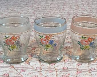 Vintage Floral Glasses