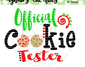 Offical Cookie Tester //Christmas//SVG/DXF/EPS file