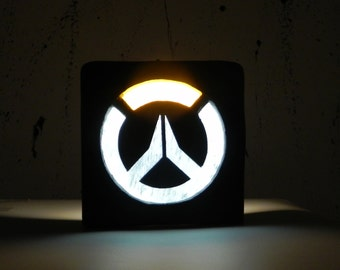 Overwatch logo night lamp