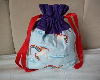 Unicorn small Drawstring project bag