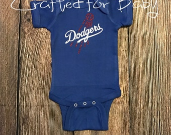 Los Angeles Dodgers Themed Onesie Bodysuit Shirt