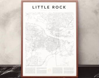Little Rock Map Print