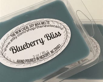 Blueberry Bliss | Scented Soy Wax Melts | 3 oz | Soy Tarts | FRUITY + SWEET