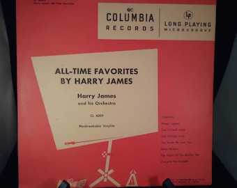 vintage Harry James vinyl lite record CL 6009 All Time Favorites by Harry James and his Orchestra in original sleeve