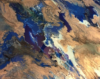 "24"" x 36"" abstract acrylic painting, original art, large wall art, modern art,"