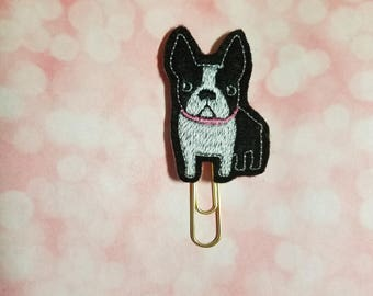 Boston Terrier Clip   Paperclip Bookmark    Bookmark    Paperclip   Planner Bookmark   Paperclip Bookmark   Planner Clips  Planner Supplies