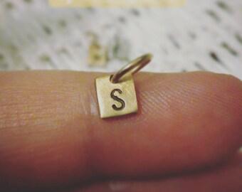 Square Monogram Silver/Gold Pendant