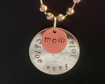Customized Mother And Children Charms