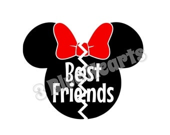 Minnie Best Friends svg dxf pdf studio
