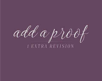 Add a Proof | Add an extra revision to any purchase