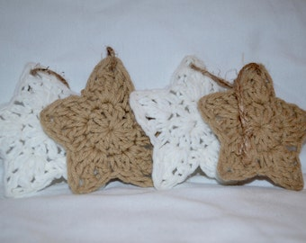 Crocheted Star Ornaments