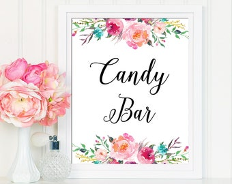 Candy Bar Sign, Wedding Sign, Candy Bar Printable, Candy Table Sign, Wedding Sign, Candyt Table Decor, Wedding Calligraphy Sign