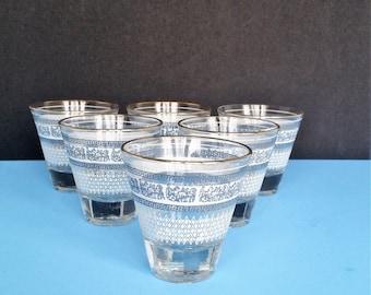Vintage Jeanette Glass Cordial or Shot Glasses in Patrician Design