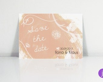 Save the date postcards (watercolor)