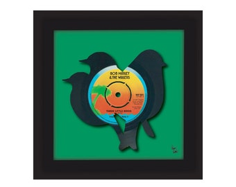 Bob Marley & The Wailers - Three Little Birds - Vinyl Record Art | FREE UK Delivery