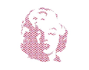 25% OFF Lipstick Marolyn Monroe Pattern Craft Vinyl. UV Laminated. Various Sizes Available.