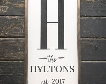 Personalized Family Sign. Personalized Wood Sign. Wedding Gift. Family Sign. Farmhouse Decor. Wood Framed Sign. Last Name Sign.