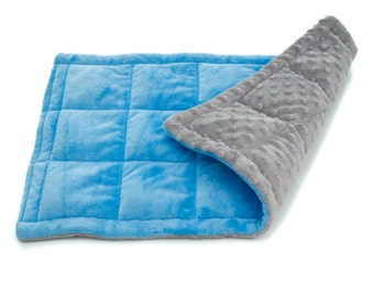 """Minky weighted lap pad, 12""""x20"""" or 16""""x24"""", sensory weighted lap pad, washable lap pad, heavy lap pad, weighted blanket"""