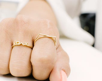 Cat Ring,14k Gold Cat Ring,Kitty Cat Ring,Gift for a Cat Lover,Gold Kitty Ring,Animal Ring,Cat Ear-Ring,Kitty Cat Jewelry,Cute Kitty Ring