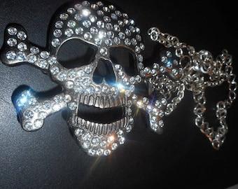 A pirate's  skull bone necklace