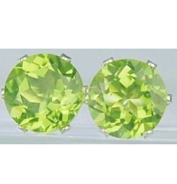 Peridot Stud Earrings August birthstone Medium size