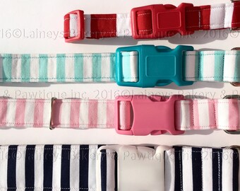 Laineys Cabana Striped Dog Collars