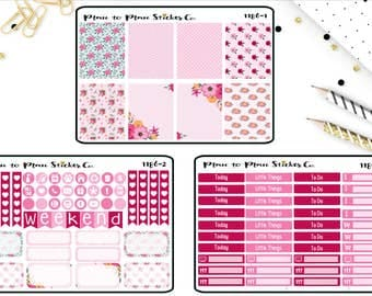 C1186~~Summer Blooms Weekly Kit Planner Stickers.