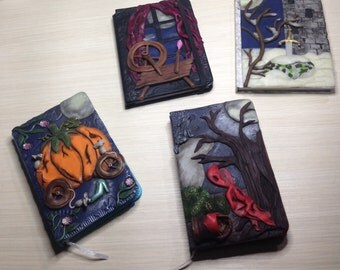 """Polymer Clay Journal, """"Creepy Tales"""" collection, Journal of polymer clay, popular fairy tales"""