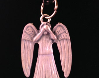 White Weeping Angel Statue Pendant