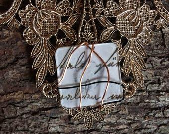 Antiqued necklace